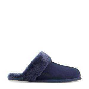 Scufette II suède pantoffels donkerblauw