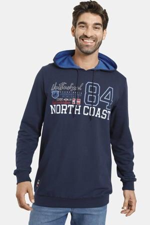 hoodie met printopdruk Plus Size donkerblauw