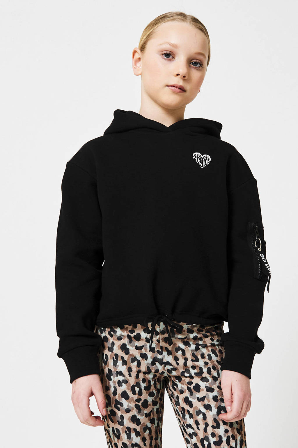 CoolCat Junior hoodie Suna zwart, Zwart