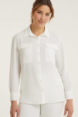 blouse met textuur ecru