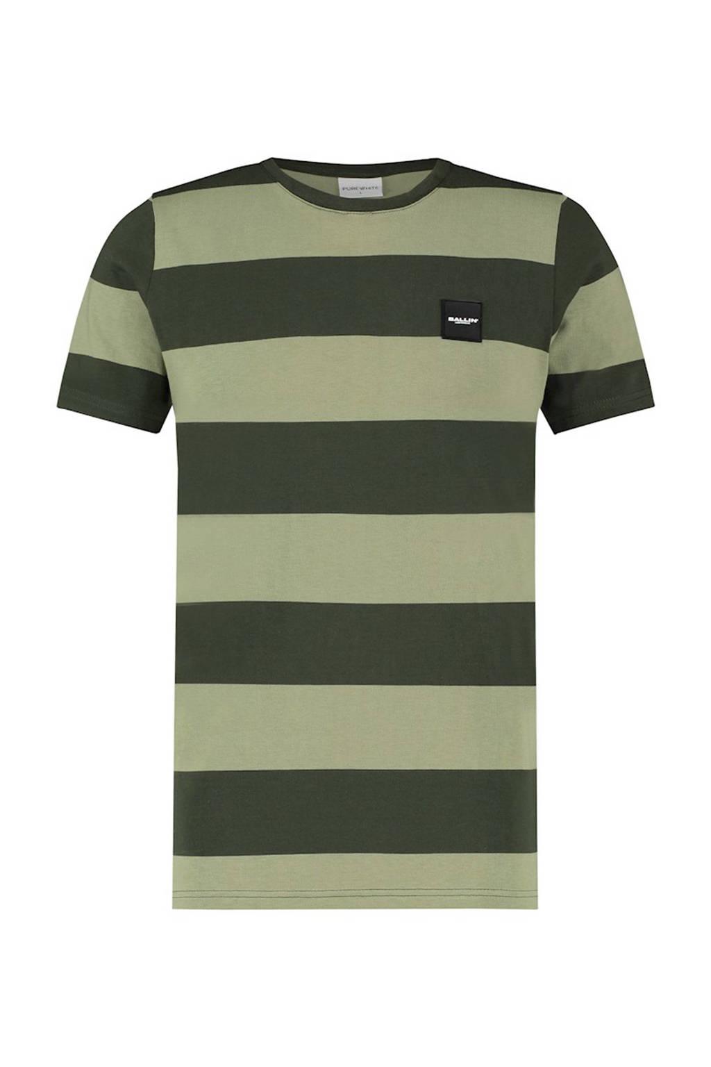 Ballin gestreept T-shirt groen, Groen