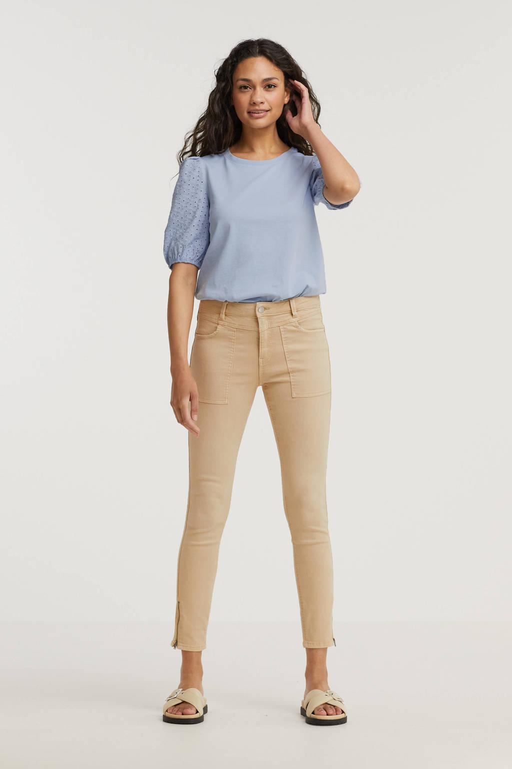 edc Women skinny broek beige, Beige