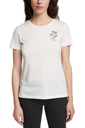 T-shirt van biologisch katoen wit