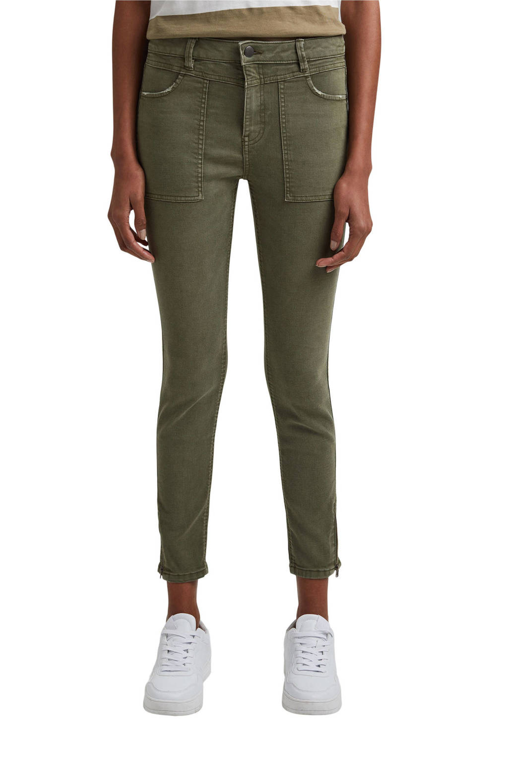 edc Women skinny broek groen, Groen
