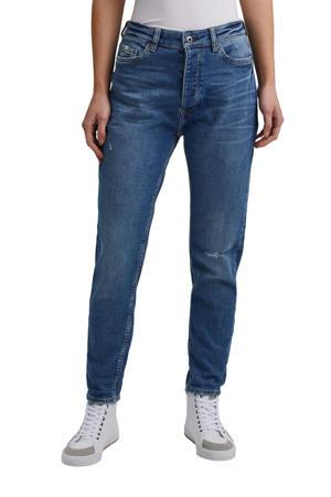 mom jeans dark denim