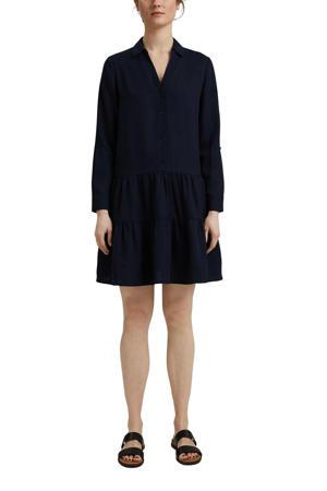 A-lijn jurk met volant zwart