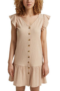 edc Women jurk met biologisch katoen beige, Beige