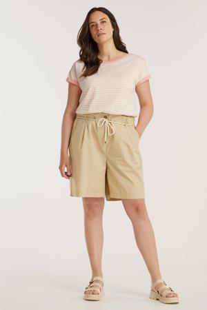 loose fit broek van biologisch katoen beige