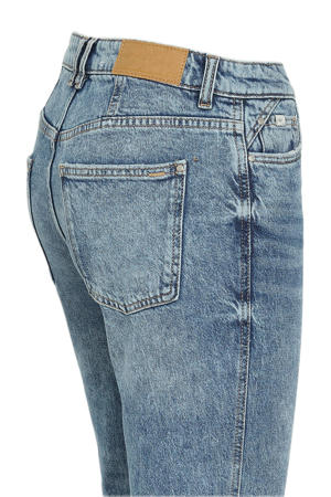 cropped bootcut jeans met biologisch katoen blauw