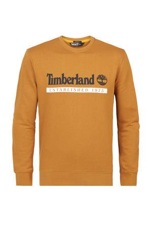 sweater met logo geel