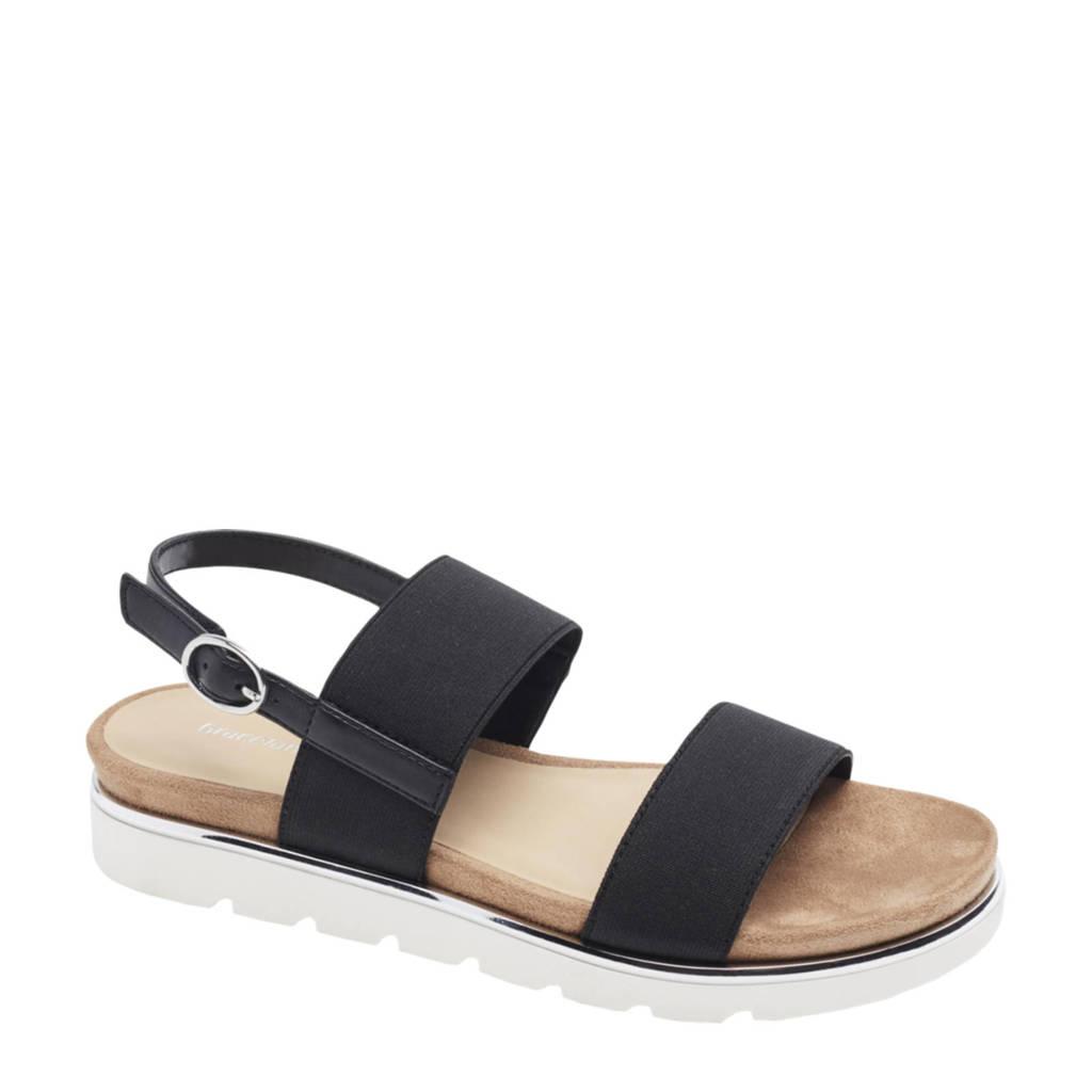 Graceland   sandalen zwart, Zwart