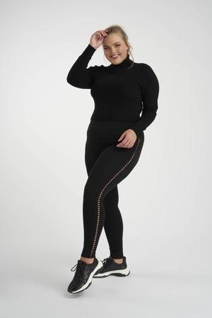 legging met open detail zwart
