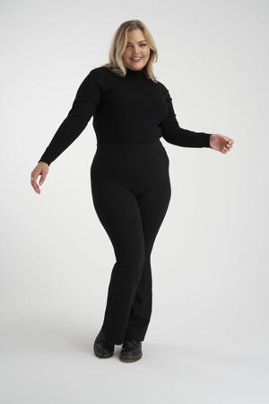 flared broek zwart