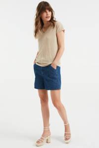 WE Fashion T-shirt zand, Zand