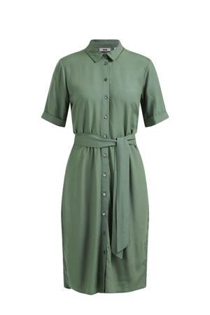 blousejurk met ceintuur groen