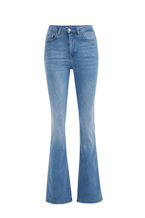 flared jeans used denim