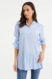 WE Fashion blouse met plooien blue