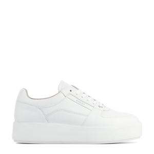 Elise Bloom  leren plateau sneakers wit