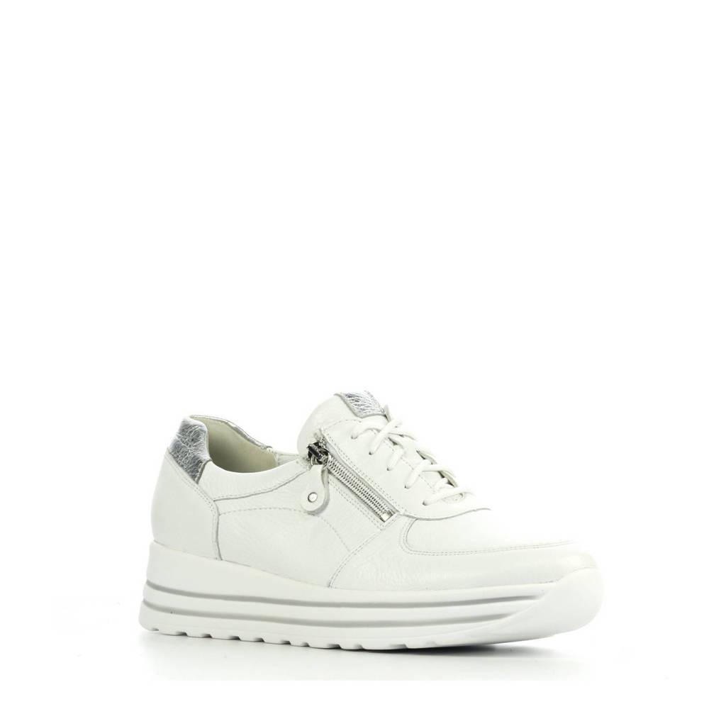 Waldlaufer 758009 comfort leren sneakers wit/zilver, Wit/zilver