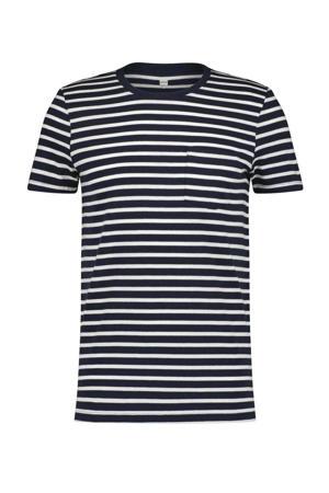 gestreept T-shirt PORTER  wit/blauw