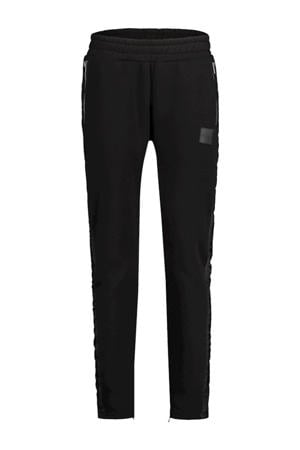 slim fit joggingbroek met zijstreep zwart