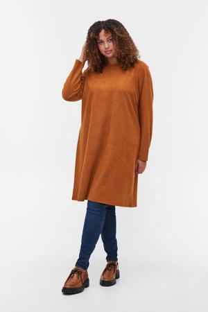fijngebreide jurk MDAMIAN donker oranje