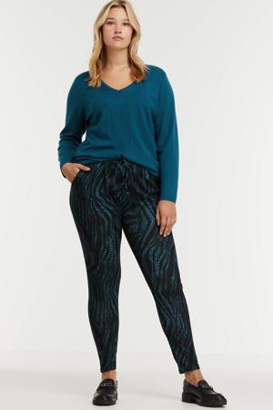 fijngebreide trui blauw