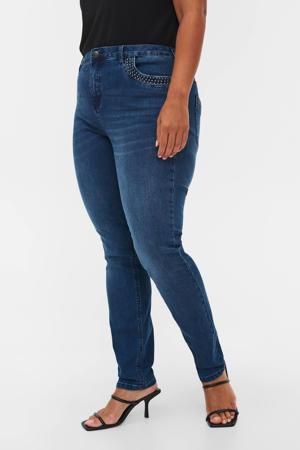high waist slim fit jeans JJOSEFINE NILLE dark denim