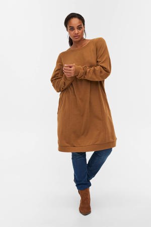 sweatjurk MDAWN van gerecycled polyester camel