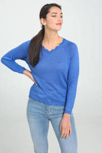 Cassis trui blauw, Blauw