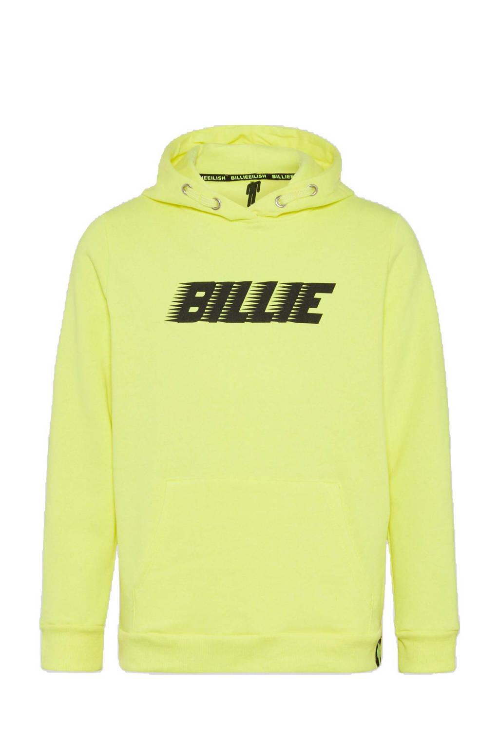 C&A hoodie met tekst neon geel/zwart, Neon geel/zwart
