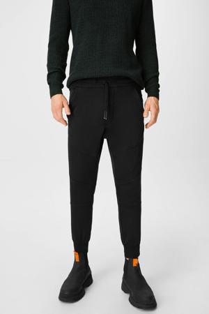 joggingbroek met textuur zwart