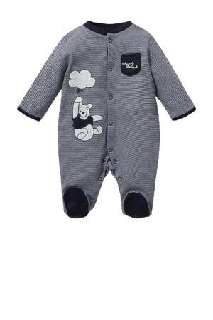 newborn baby gestreept Winnie de Poeh boxpak donkerblauw/wit