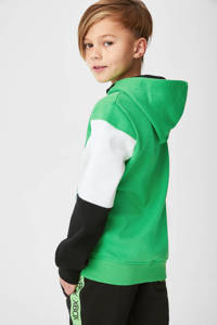 C&A hoodie met tekst groen/zwart/wit, Groen/zwart/wit