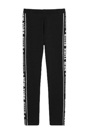 broek met zijstreep zwart/wit