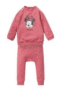 C&A newborn baby sweater + joggingbroek Minnie Mouse roze, Roze