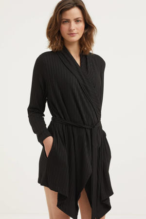 jersey kimono zwart
