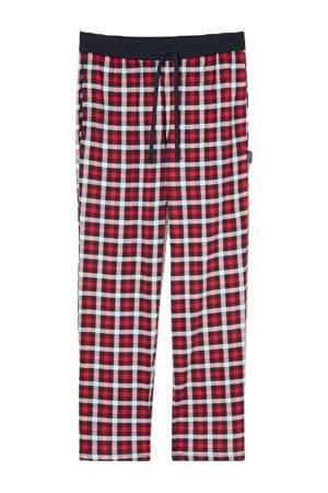 geruite pyjamabroek rood/zwart