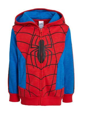 Spider-Man vest met printopdruk rood/blauw/zwart