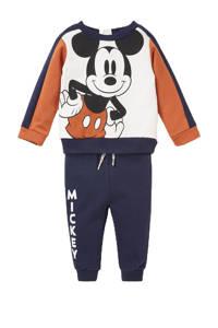 Disney @ C&A sweater + joggingbroek Mickey Mousse donkerblauw/wit/donker oranje, Donkerblauw/wit/donker oranje