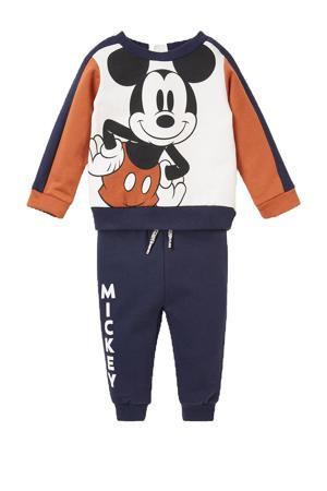 sweater + joggingbroek Mickey Mousse donkerblauw/wit/donker oranje
