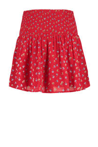 America Today mini rok met all over print rood, Rood