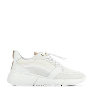 5601030  leren chunky sneakers wit