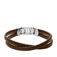 Fossil armband JF03685040 Vintage Casual bruin, Bruin