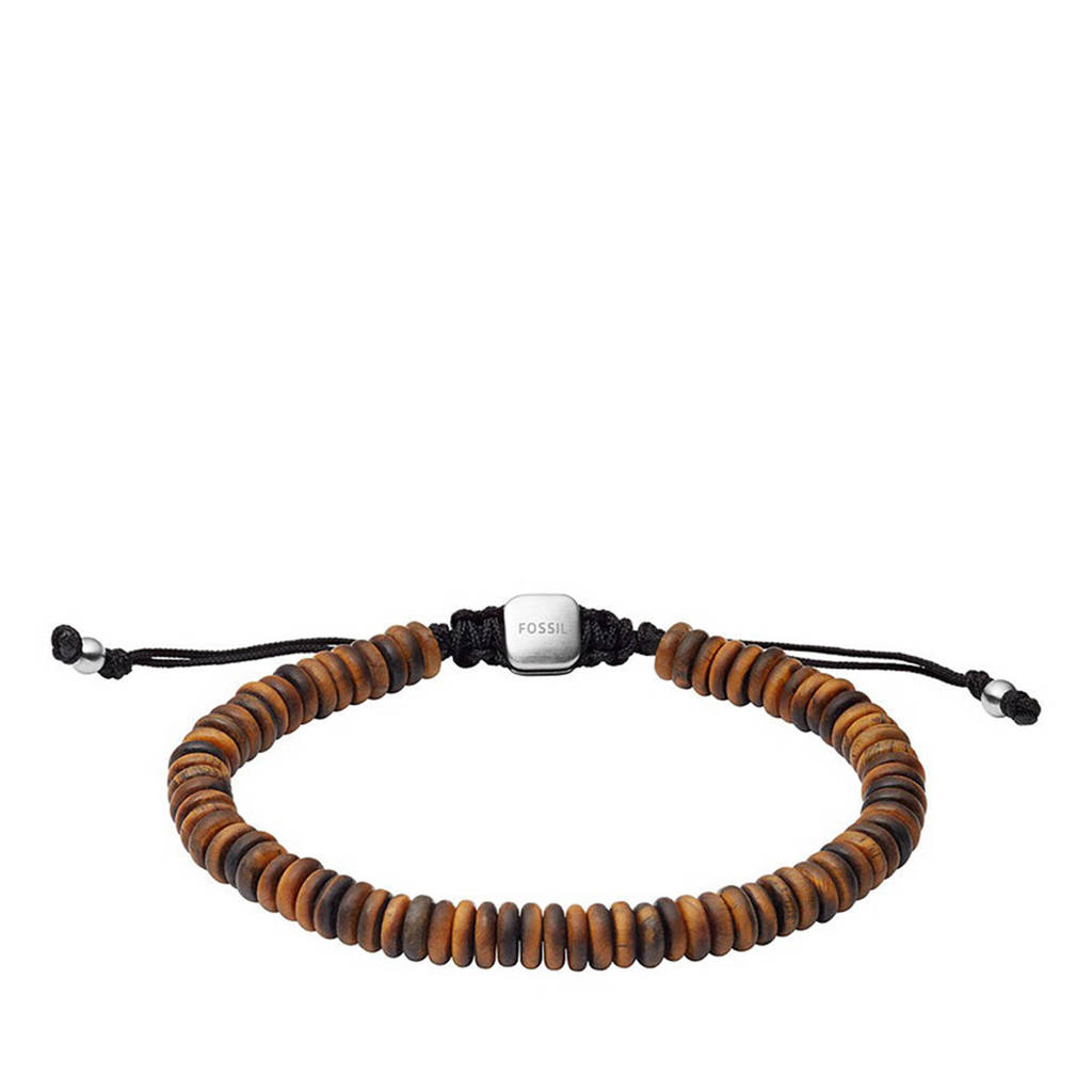 Fossil armband JF03678040 Vintage Casual bruin, Bruin