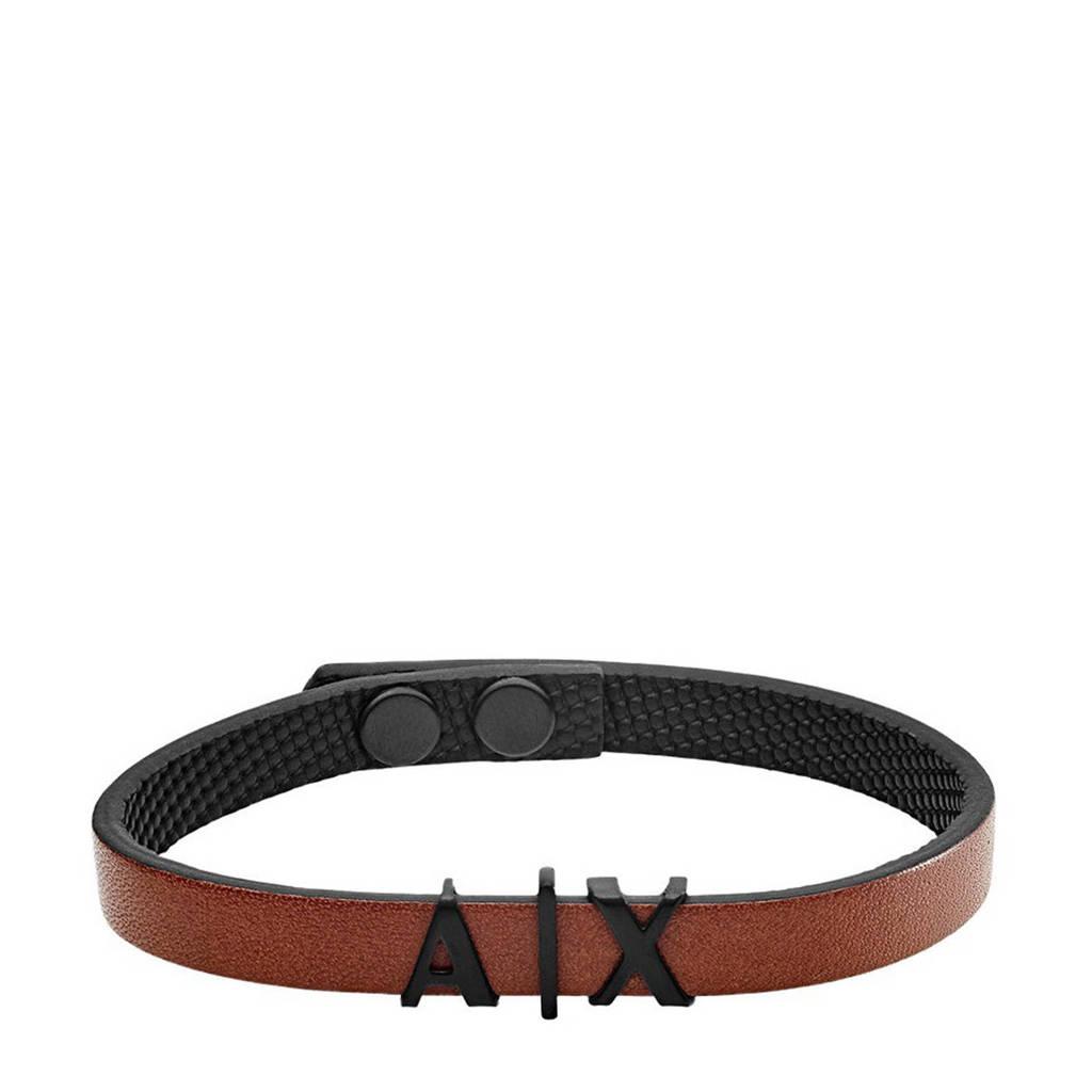 Armani Exchange armband AXG0054001 bruin, Bruin