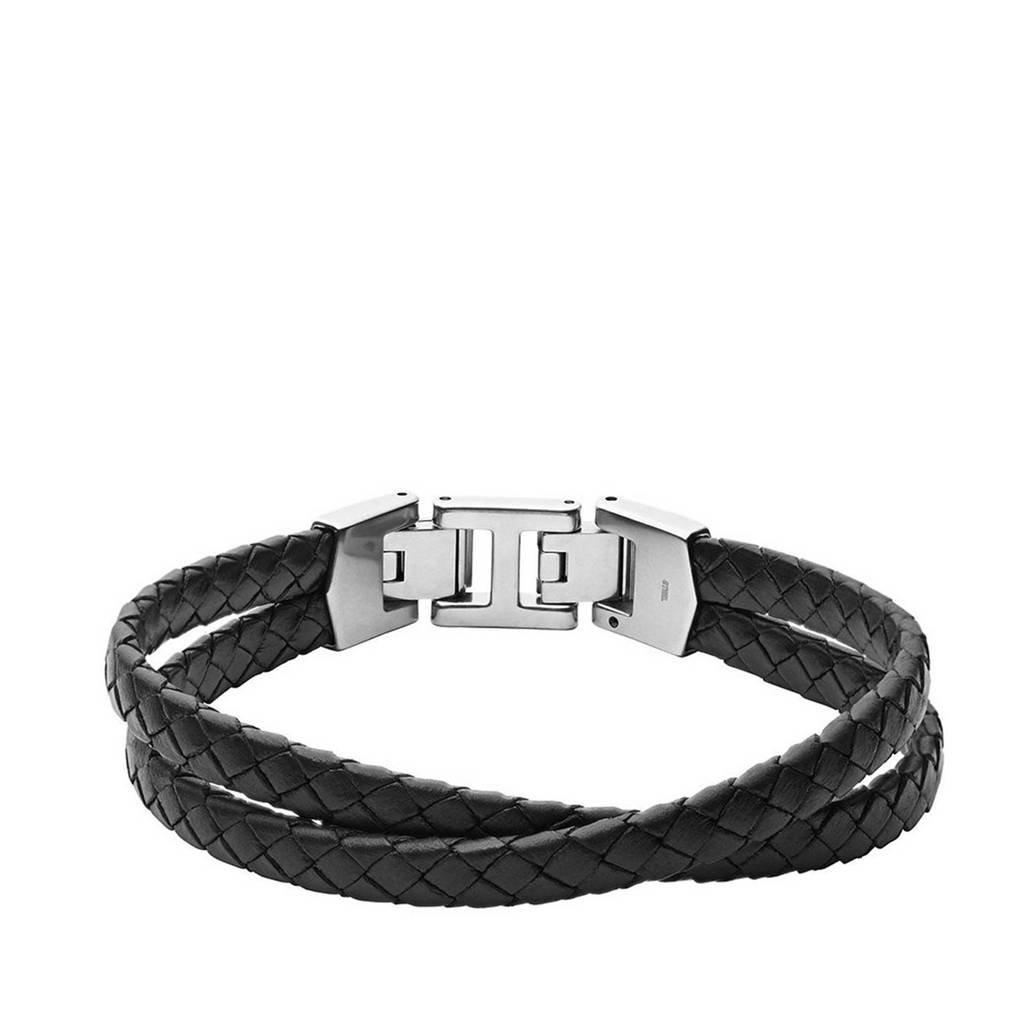Fossil armband JF03684040 Vintage Casual zwart, Zwart