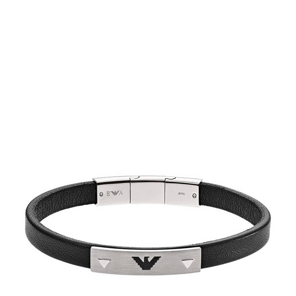 Emporio Armani armband EGS2411040 zwart, zwart zilver