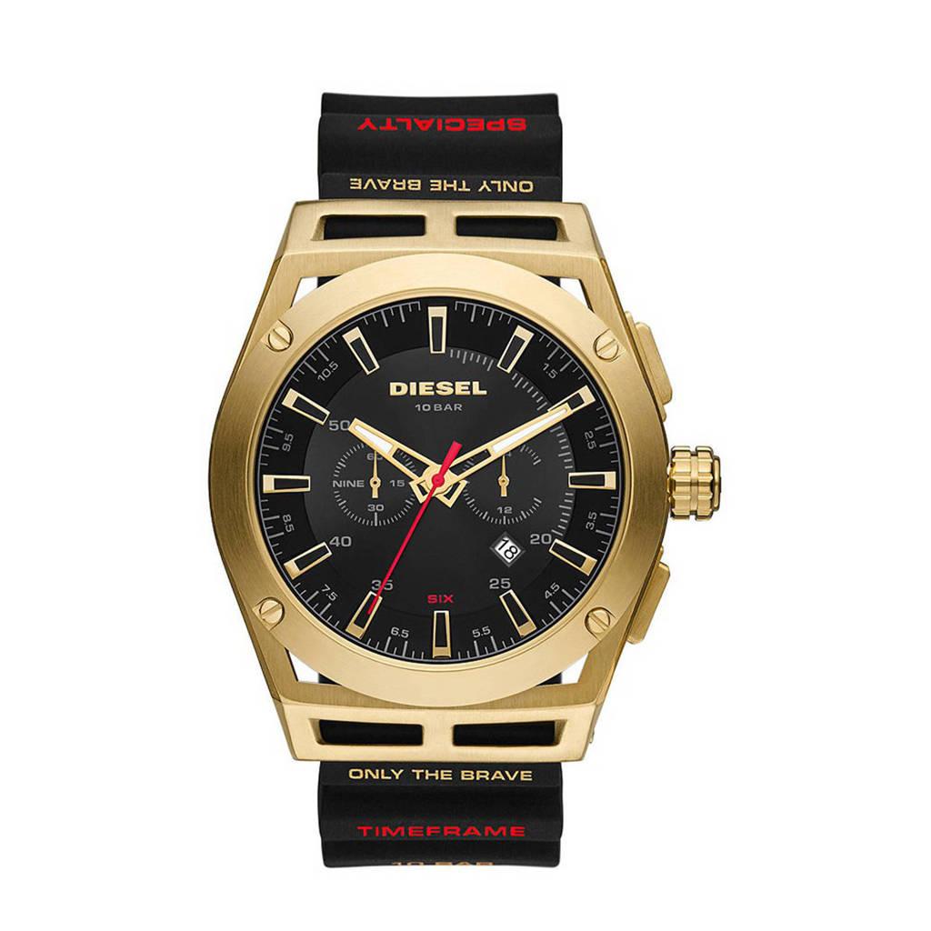 Diesel horloge DZ4546 Timeframe Goud, zwart/goudkleurig