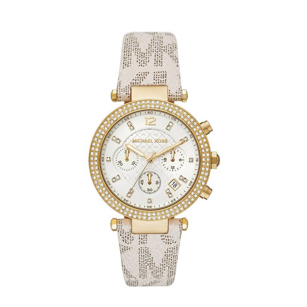 Michael Kors horloge MK6916 Parker Goud, Wit/goudkleurig
